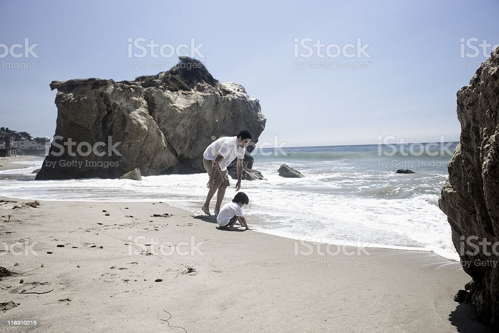 father and son vacation royalty-free stock photo