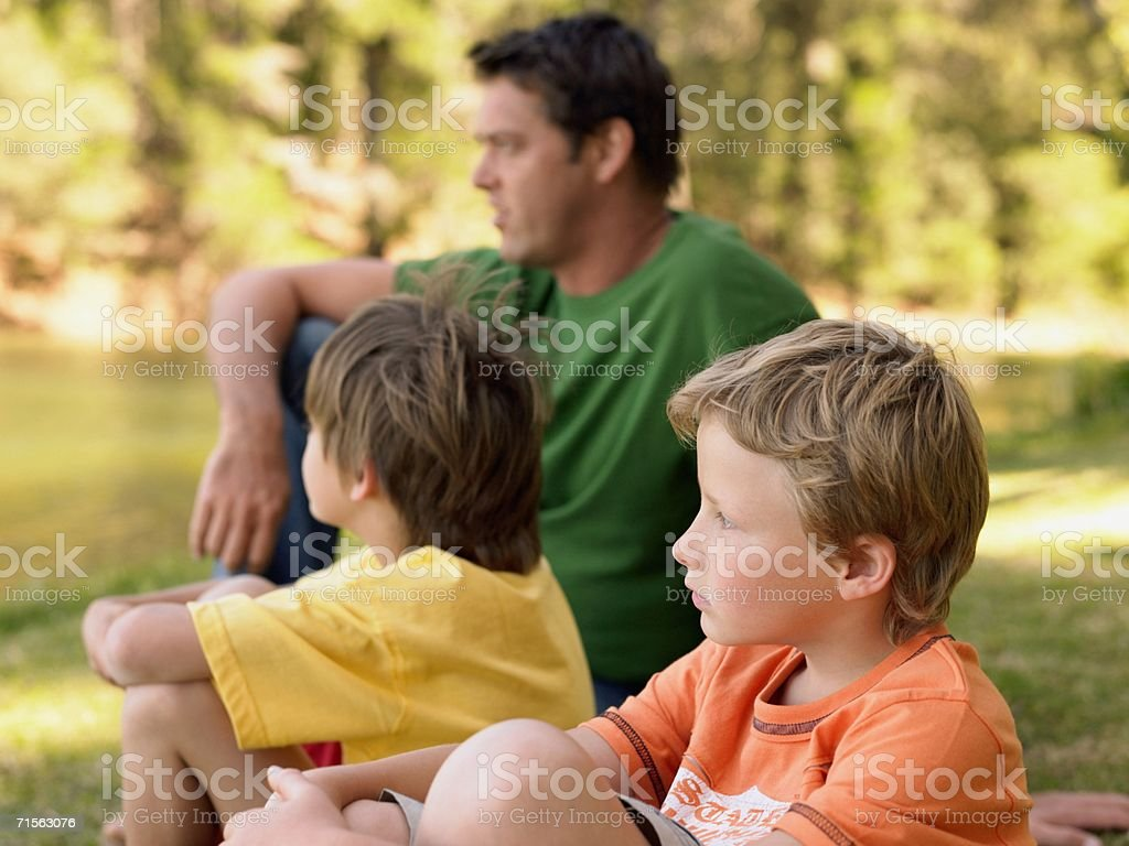 Father and sons royalty-free stock photo