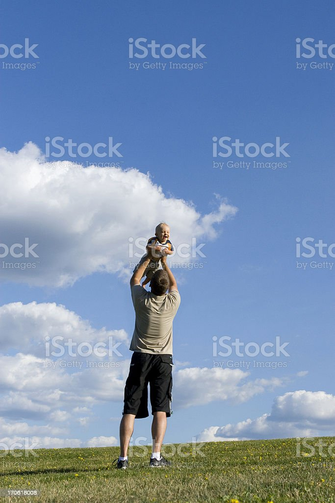 father and young son royalty-free stock photo