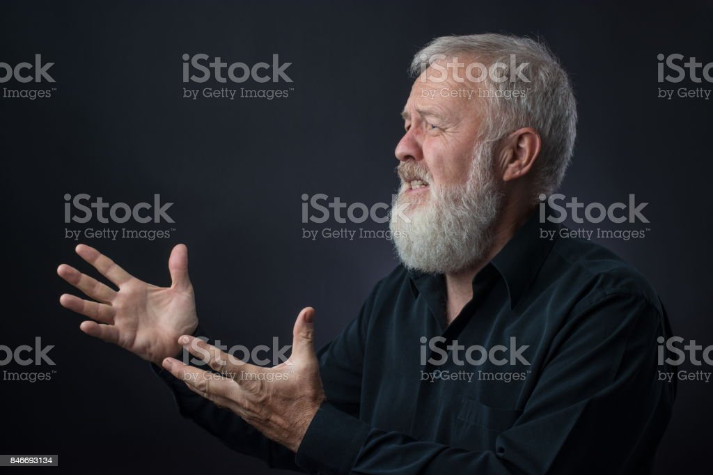 Father asking from all over the heart to the prodigal son stock photo