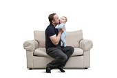 Father & Baby on Couch