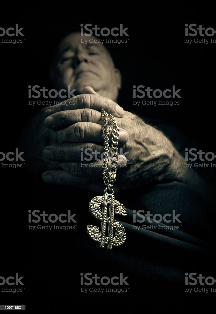 father bling-bling royalty-free stock photo