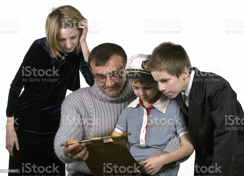 father & children royalty-free stock photo