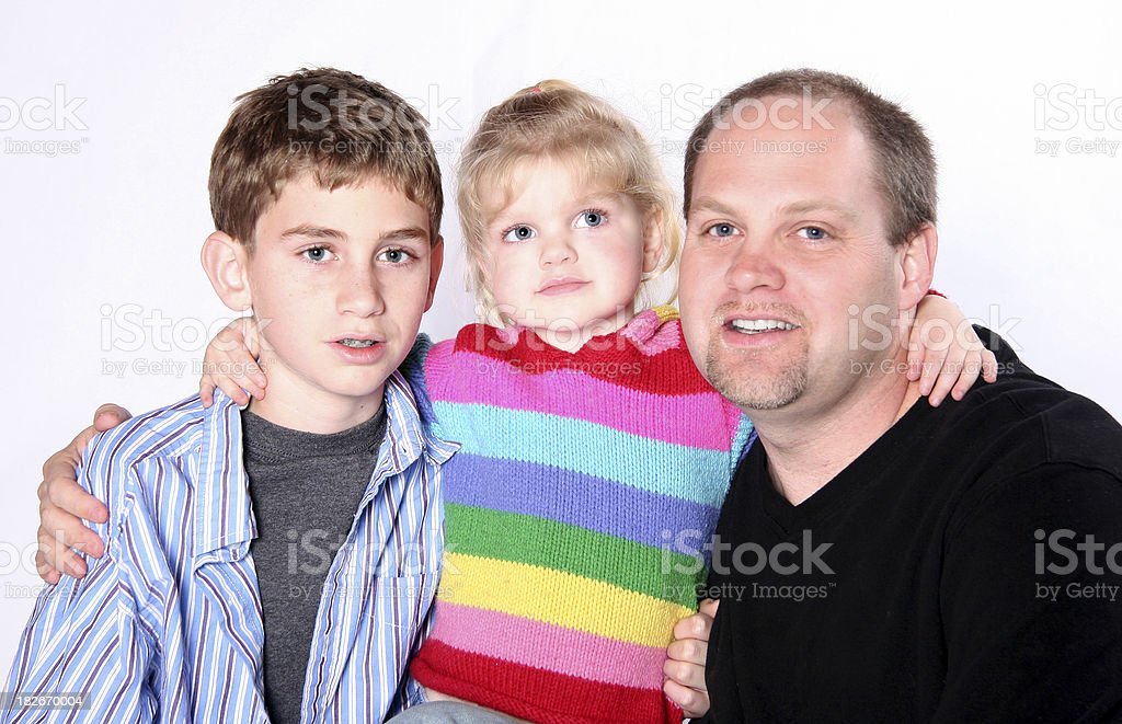 Father & Children (2) royalty-free stock photo