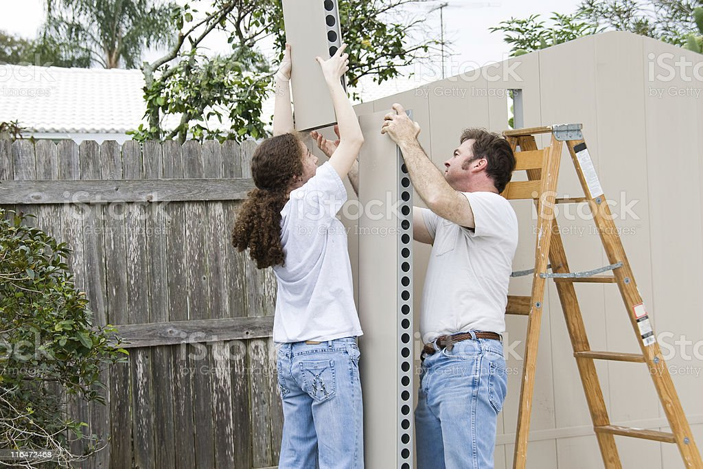 Father Daughter Home Improvement royalty-free stock photo