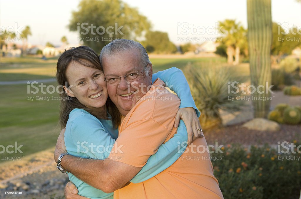 Father & Daughter Hugging royalty-free stock photo