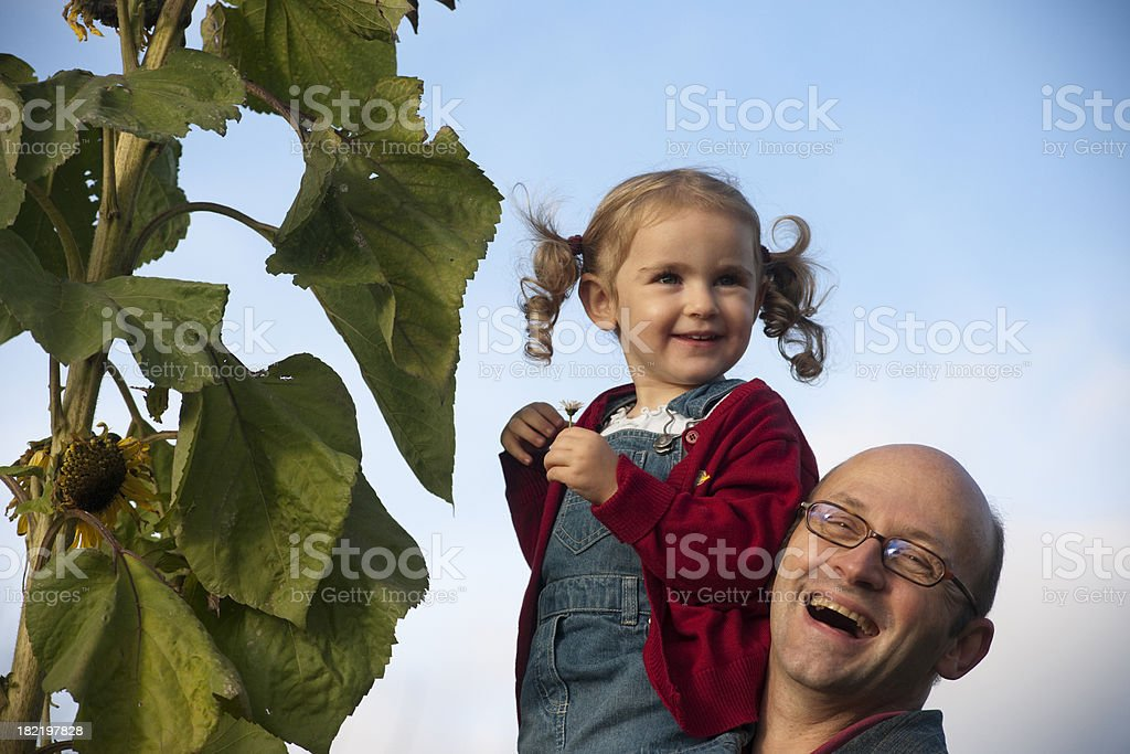 Father explaining the nature royalty-free stock photo
