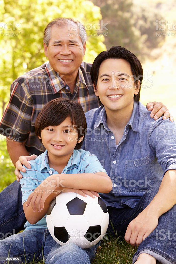 Father, grandfather and son portrait royalty-free stock photo