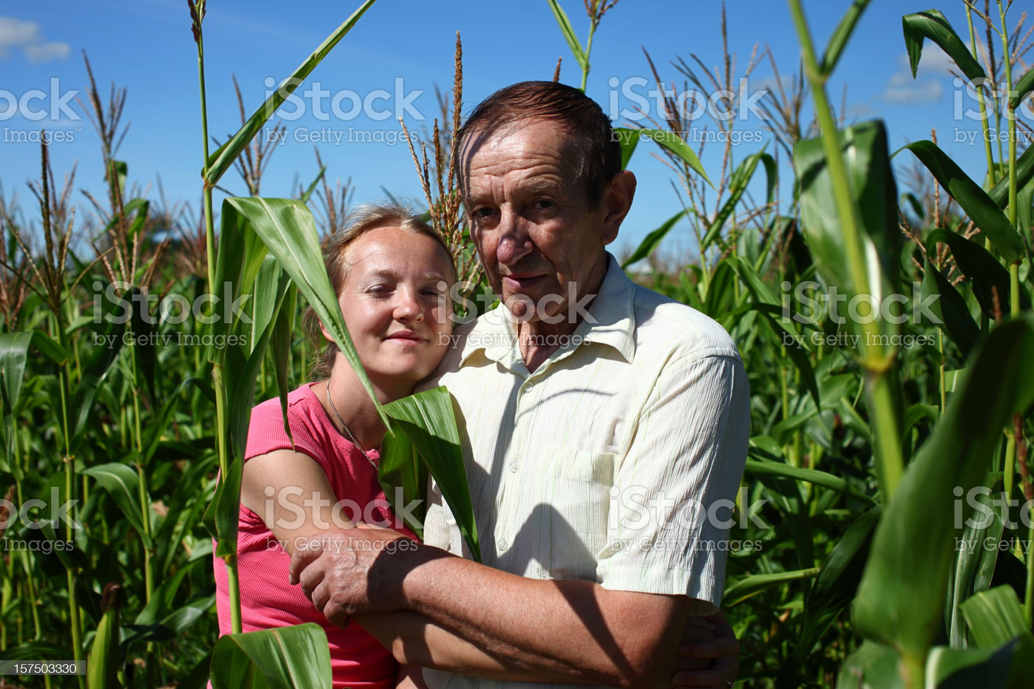 Father Holding Daughter royalty-free stock photo