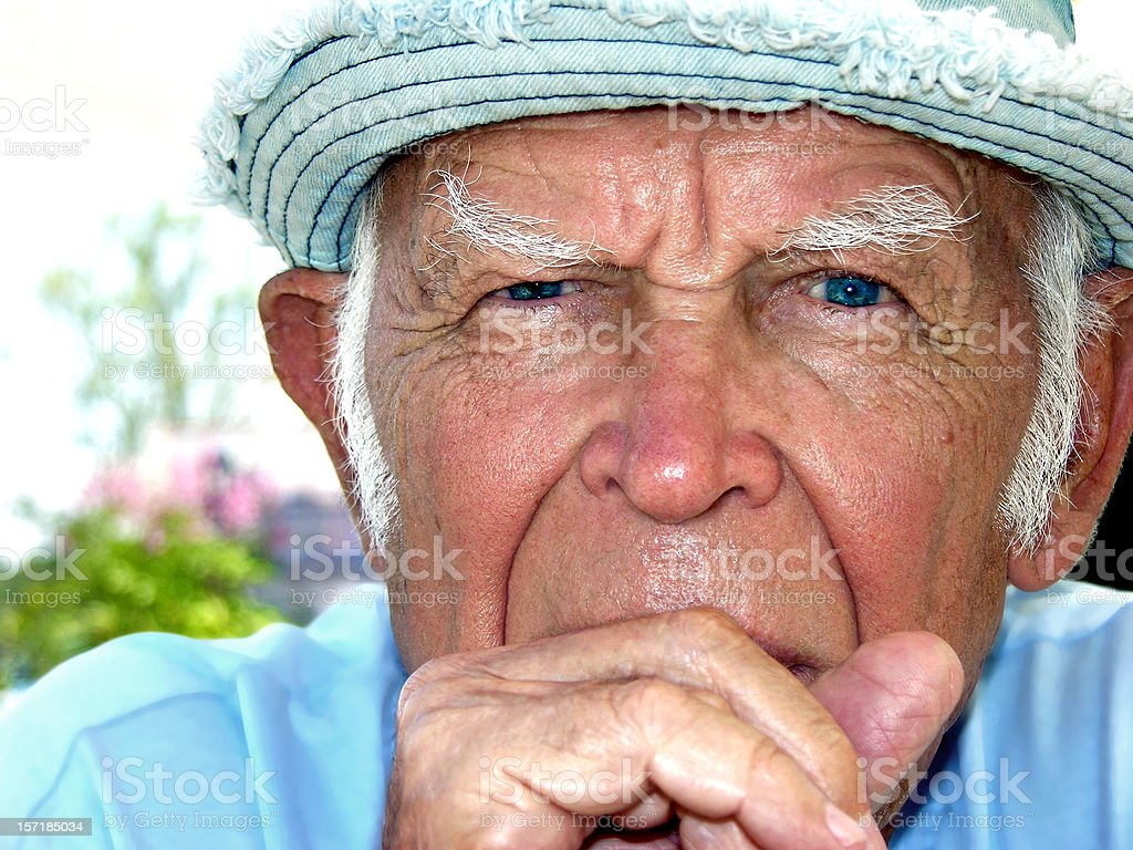 Father looks at you royalty-free stock photo