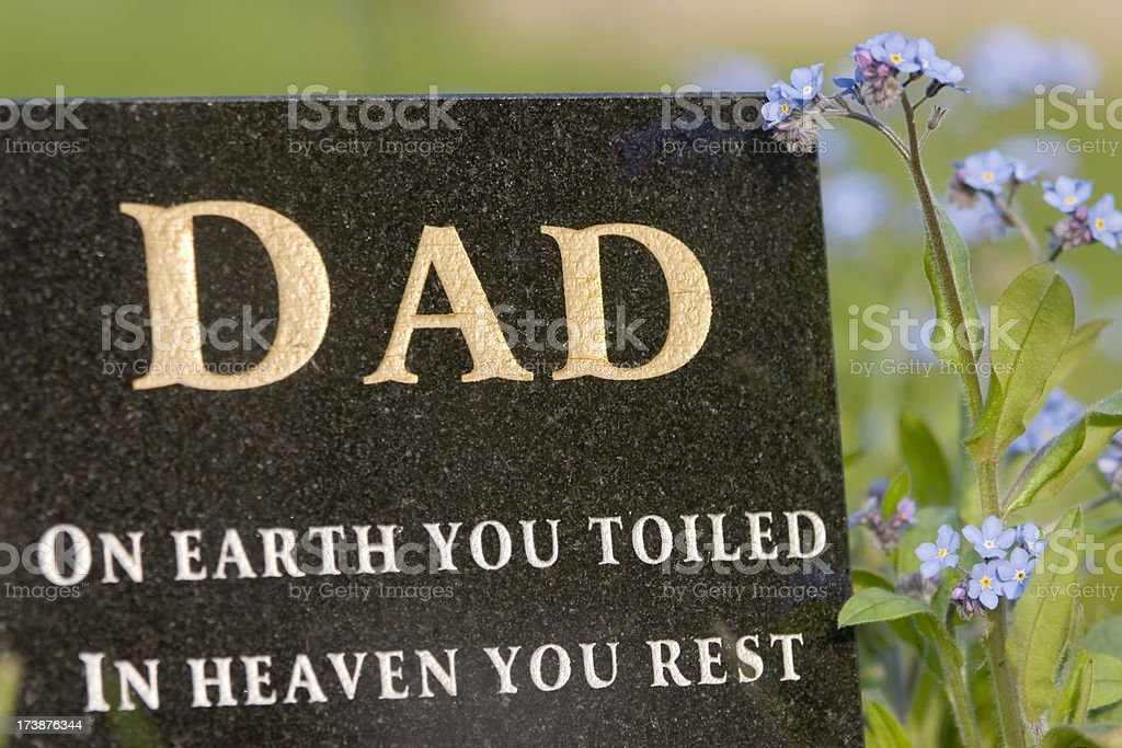 Father Memorial royalty-free stock photo