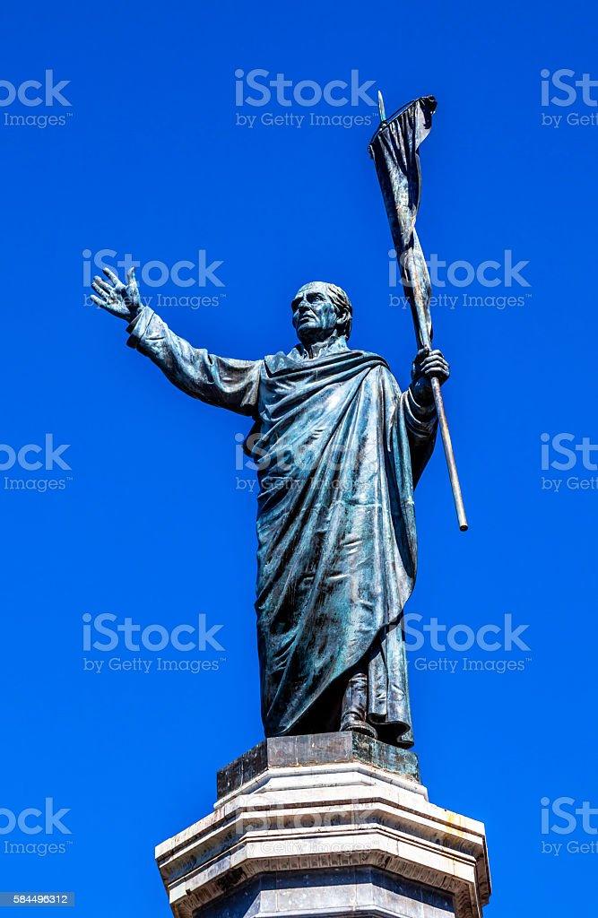 Father Miguel Hidalgo Statue Dolores Hidalgo Mexico stock photo