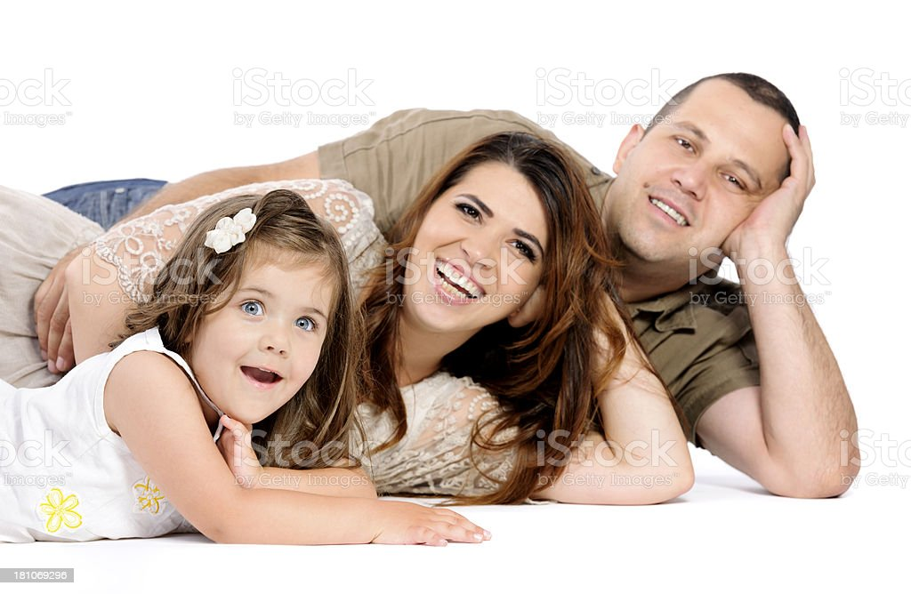 father mother and daughter royalty-free stock photo