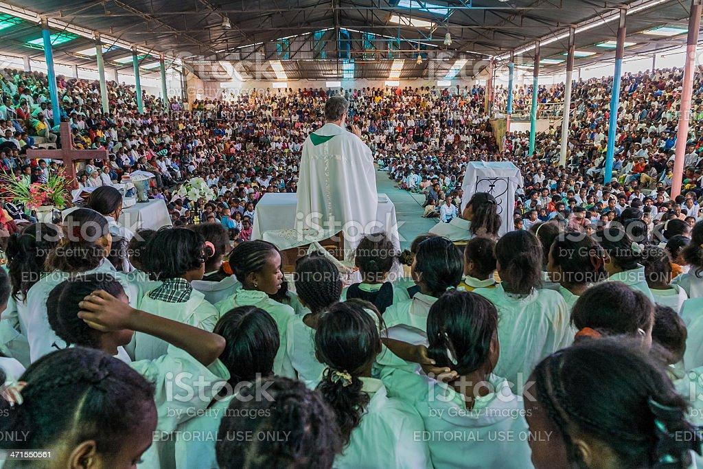 Father Pedro Opeka stock photo