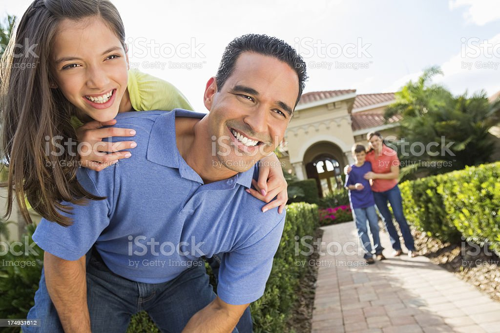 Father Playing With Her Daughter royalty-free stock photo