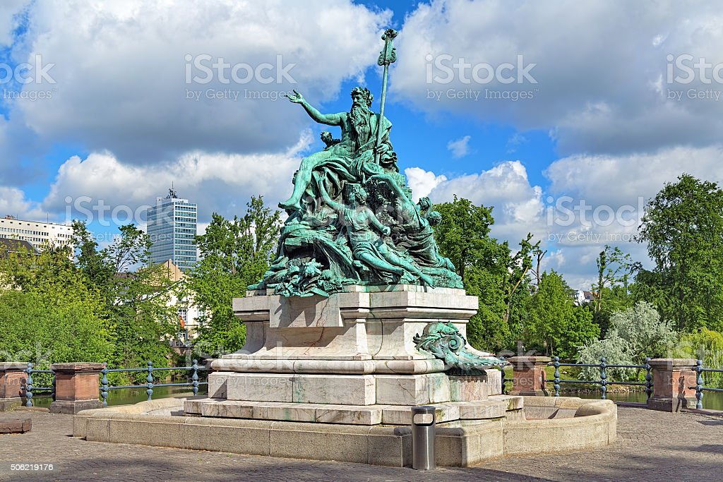 Father Rhine and his Daughters, a sculpture in Dusseldorf stock photo