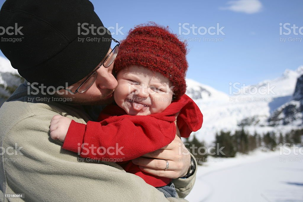 Father Son Affection stock photo