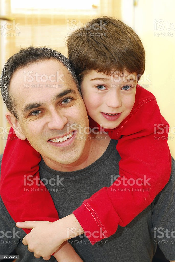 Father son portrait royalty-free stock photo