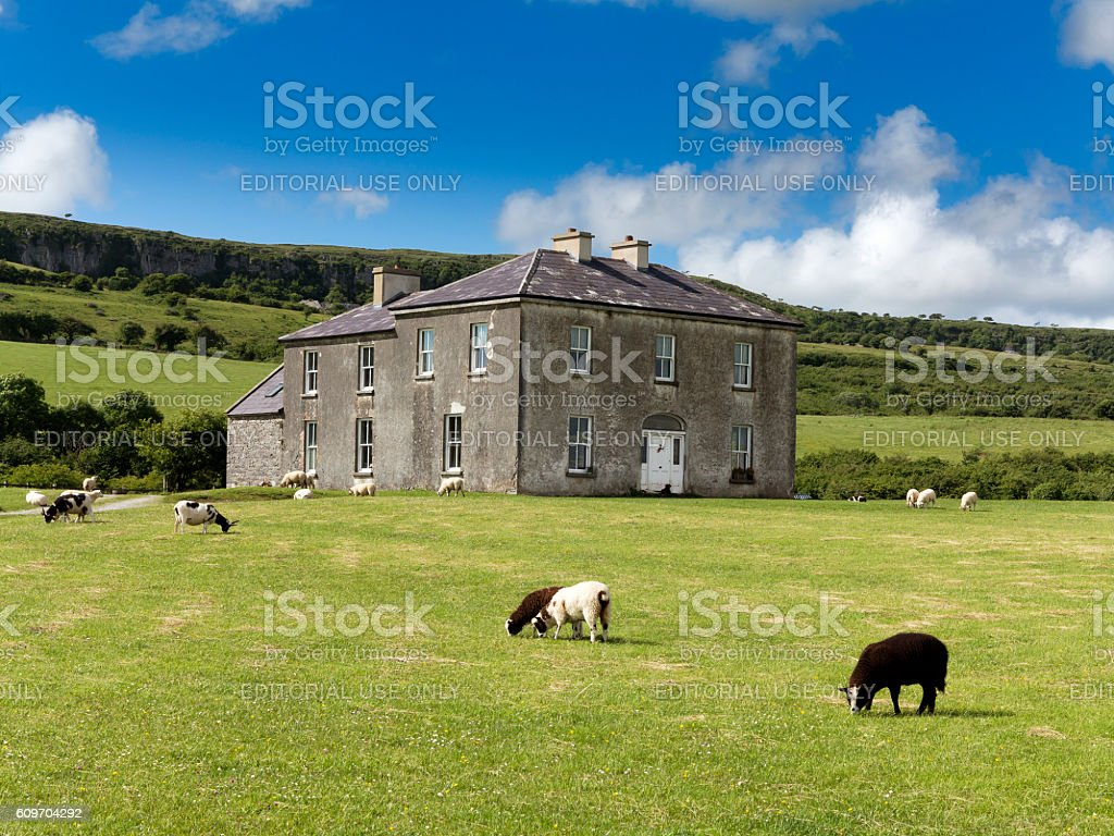 Father Ted Parochial House, The Burren, Co Clare, Ireland stock photo