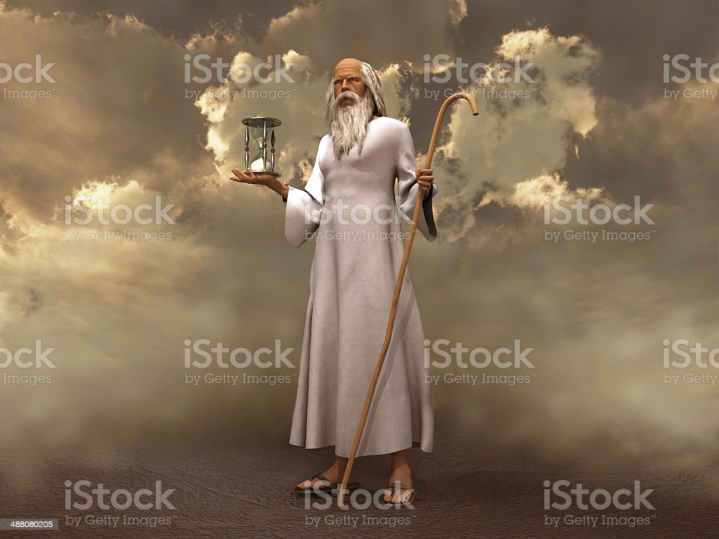 Father Time stock photo