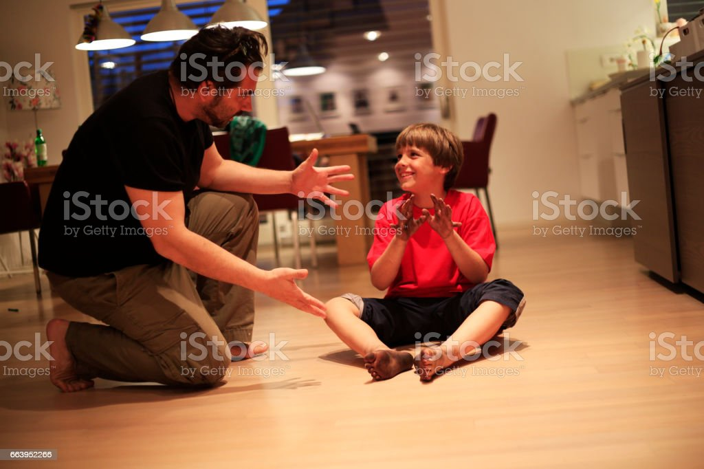Father try to be good parent stock photo
