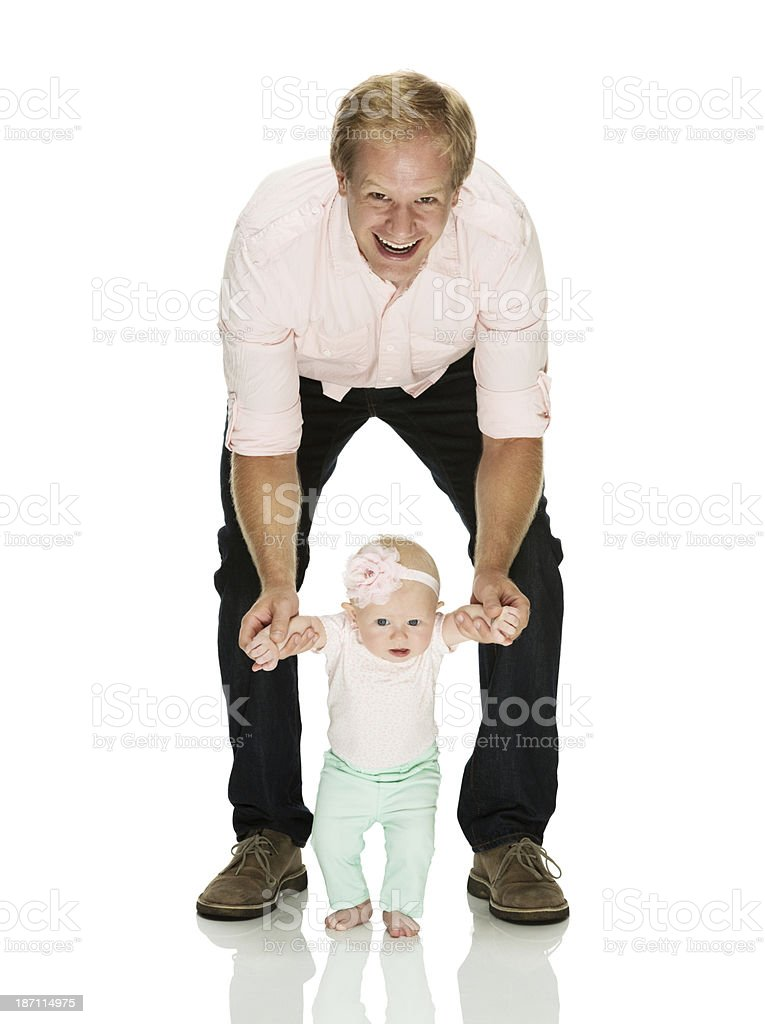 Father with baby girl royalty-free stock photo