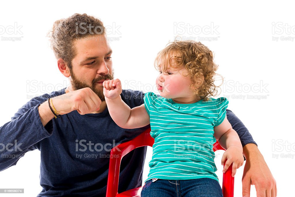 Father with baby stock photo