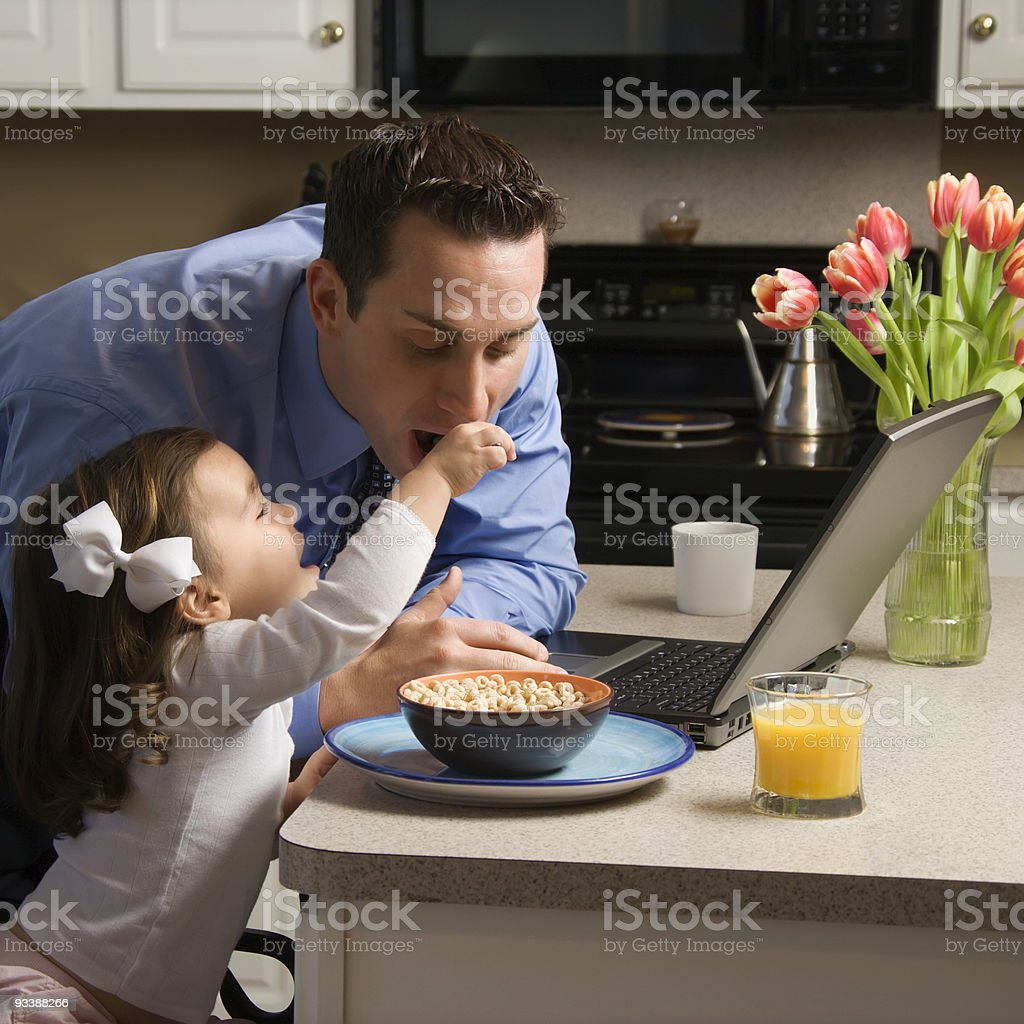 Father with daughter. royalty-free stock photo