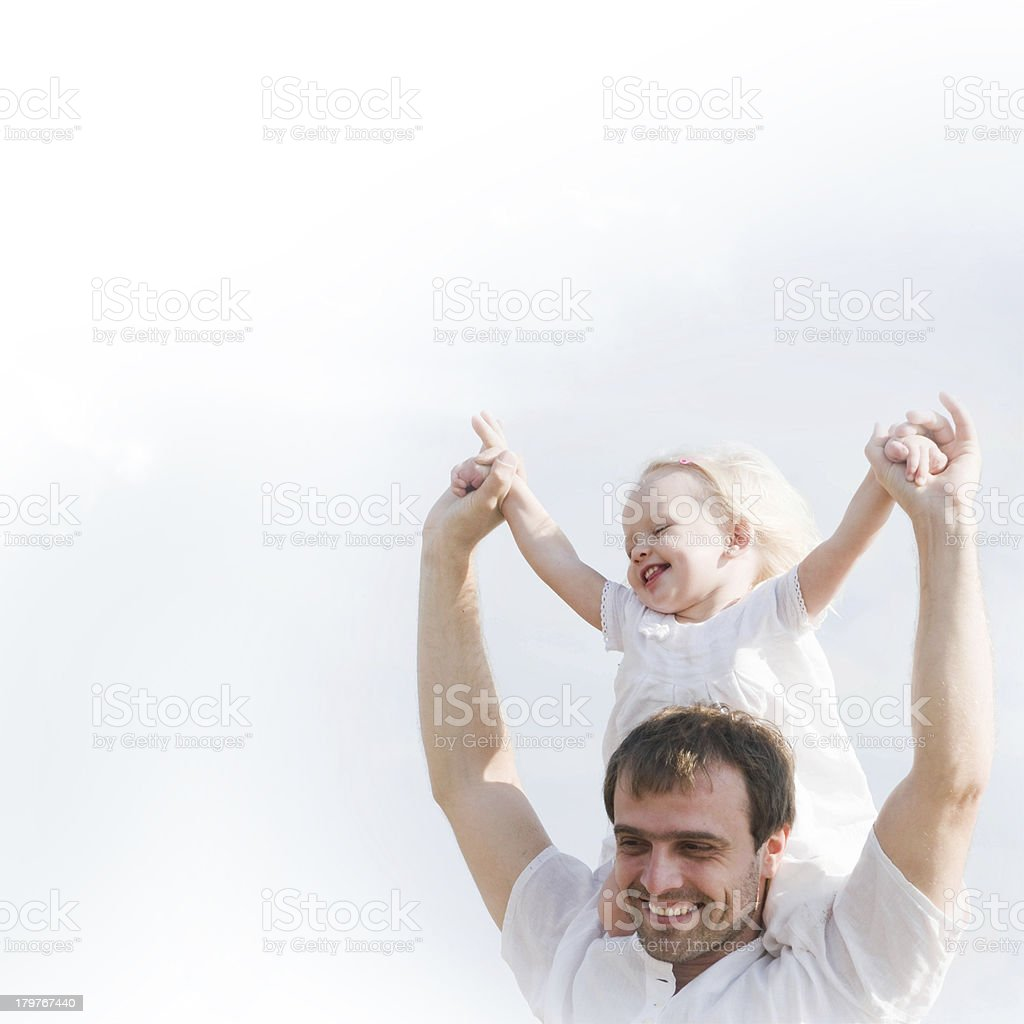 Father with her little daughter royalty-free stock photo
