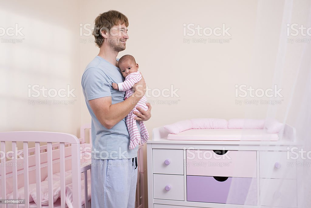 Father with his baby. stock photo