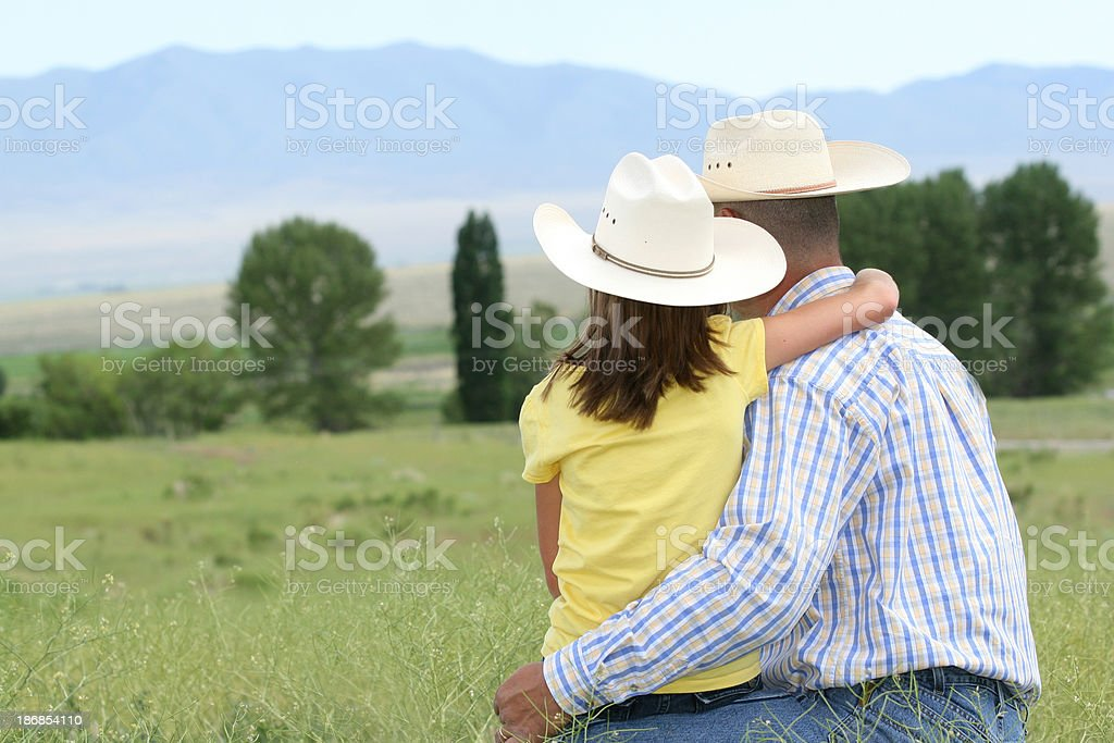 Father with His Daughter royalty-free stock photo