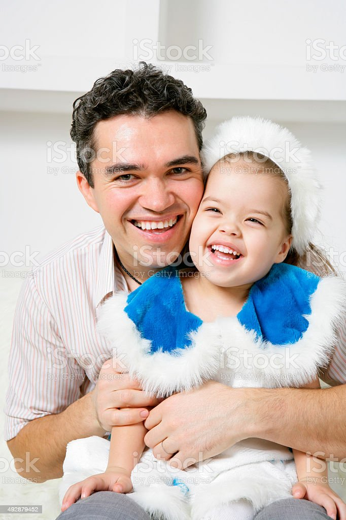 Father with his lovely daughter stock photo