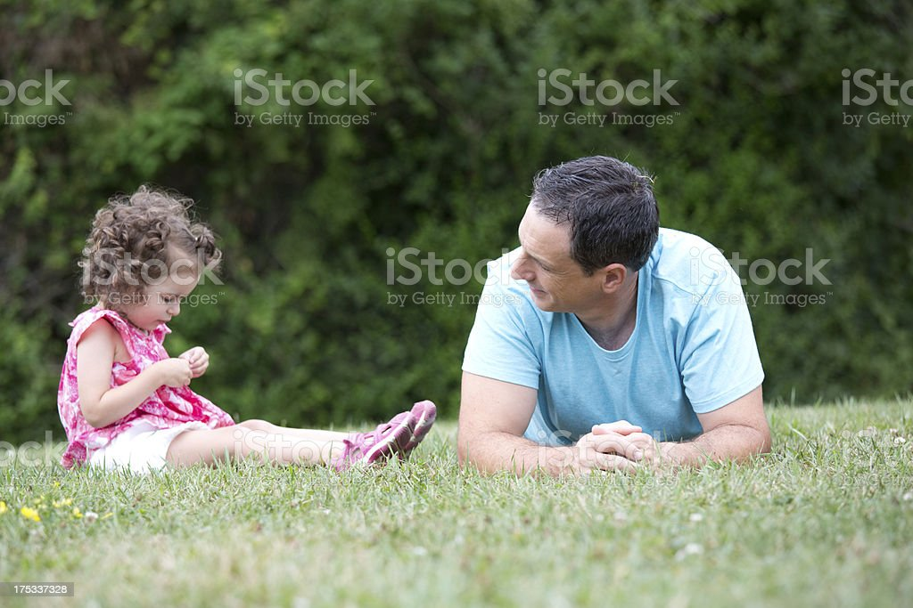 father with little girl royalty-free stock photo