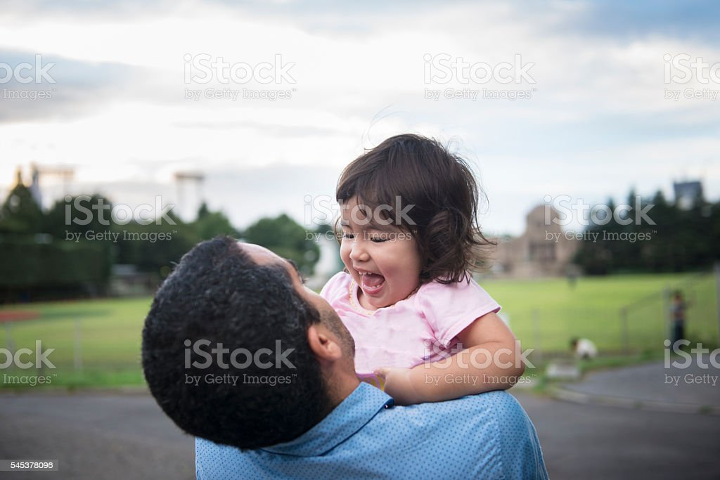 Father with little girl. stock photo