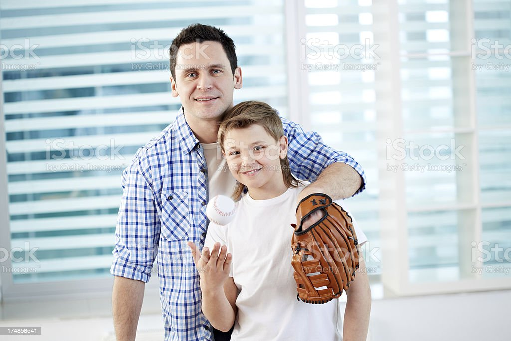 Father with son royalty-free stock photo