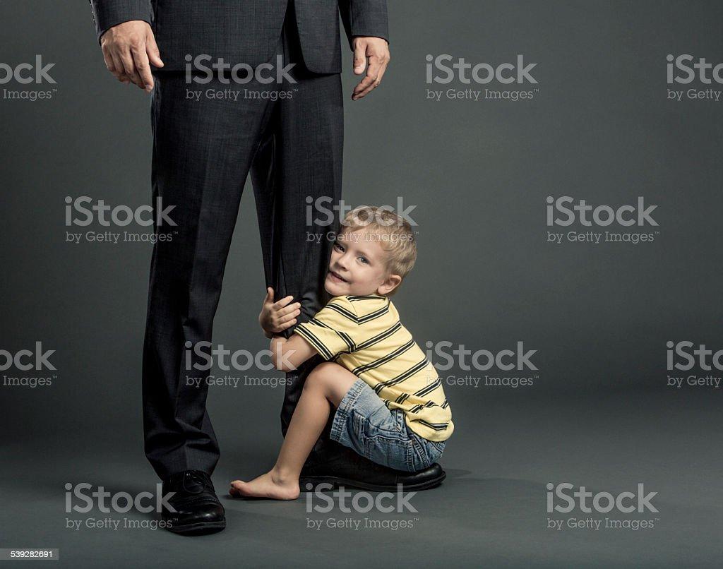 Fatherhood and Work Balance stock photo