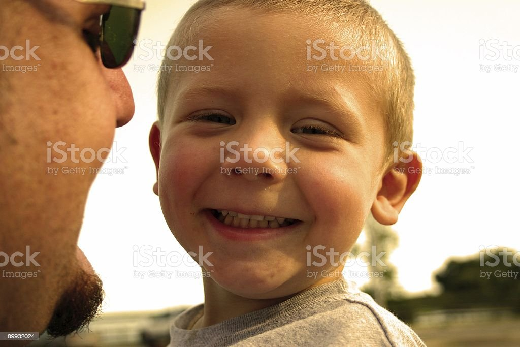 Fatherhood is a special friendship royalty-free stock photo