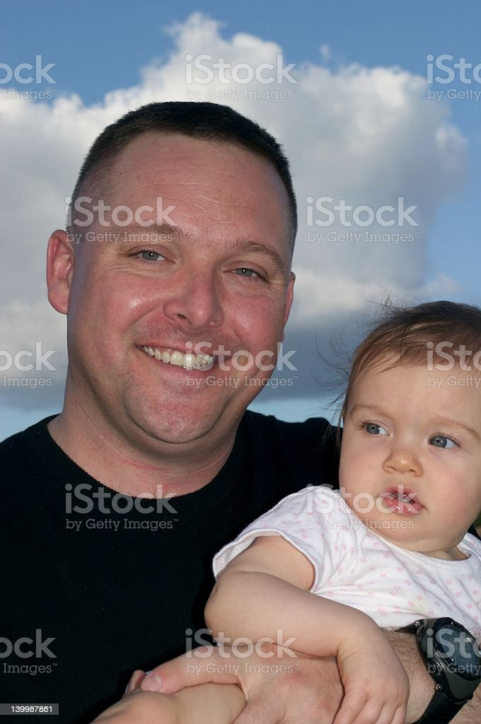 Fatherhood royalty-free stock photo