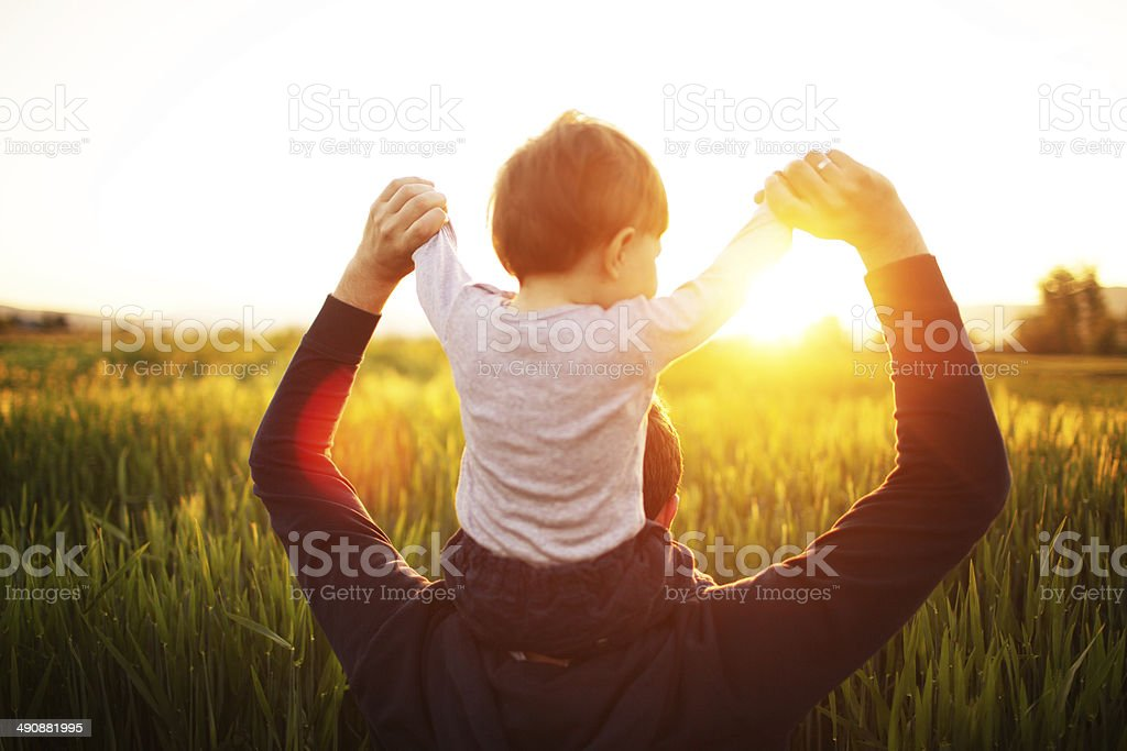 Fatherhood stock photo