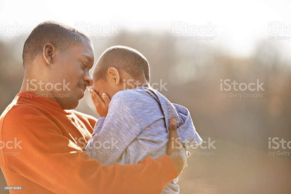 Fatherly affection stock photo