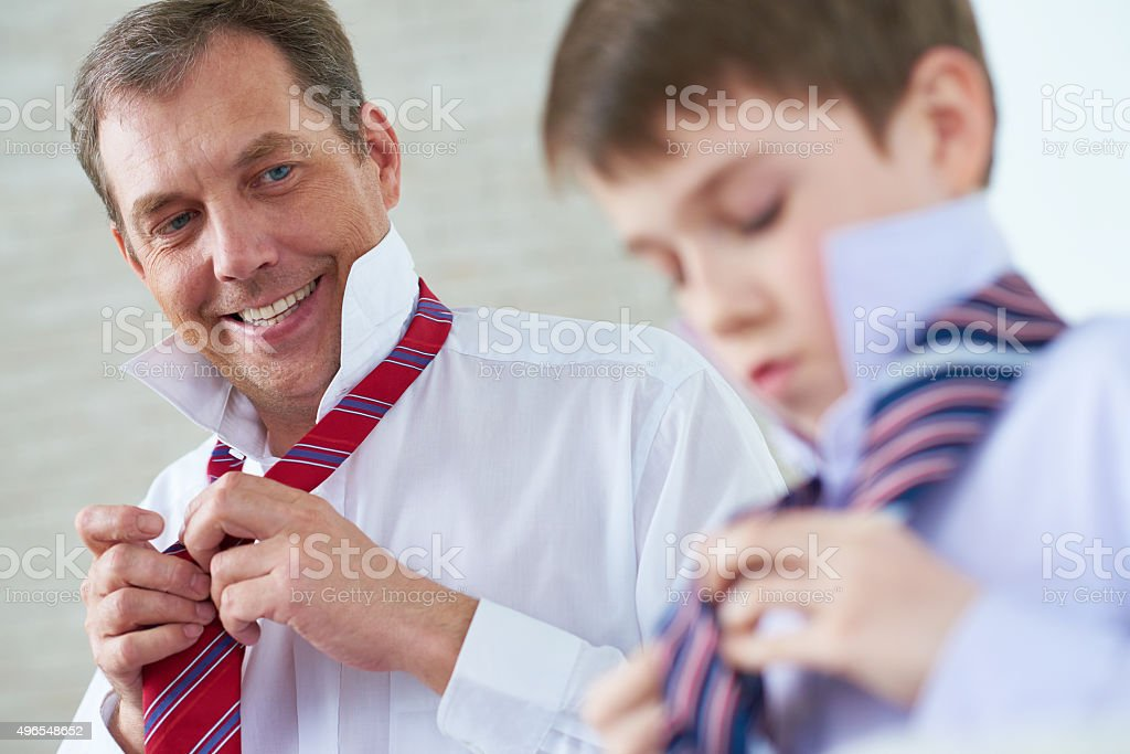 Father's advice stock photo