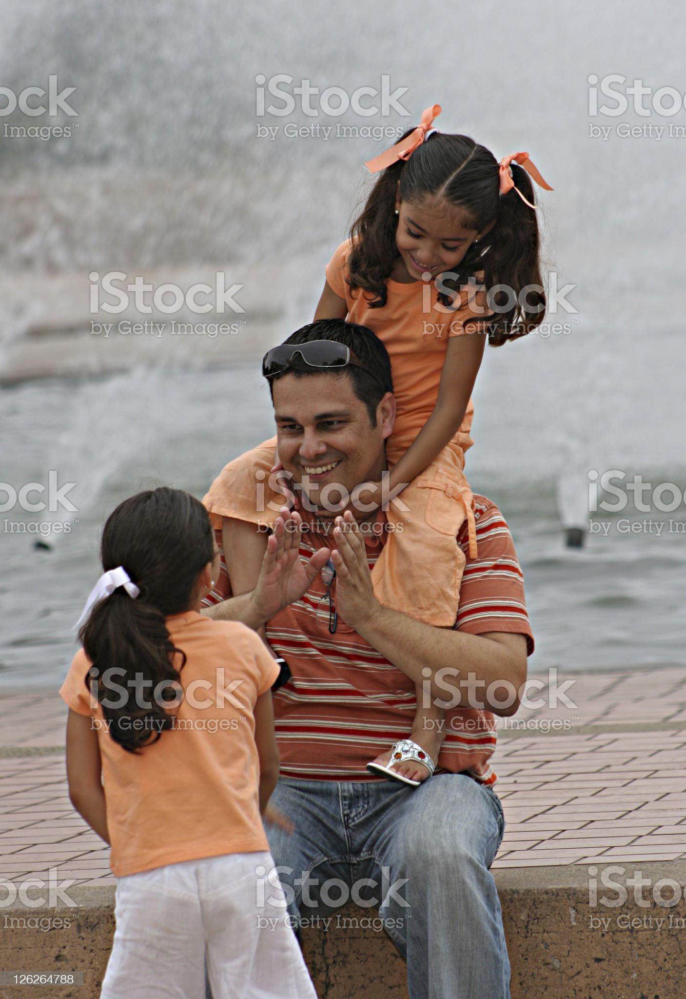 Fathers and daughters royalty-free stock photo