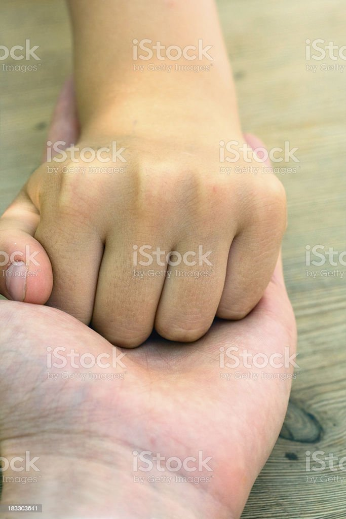 Fathers and sons hand royalty-free stock photo