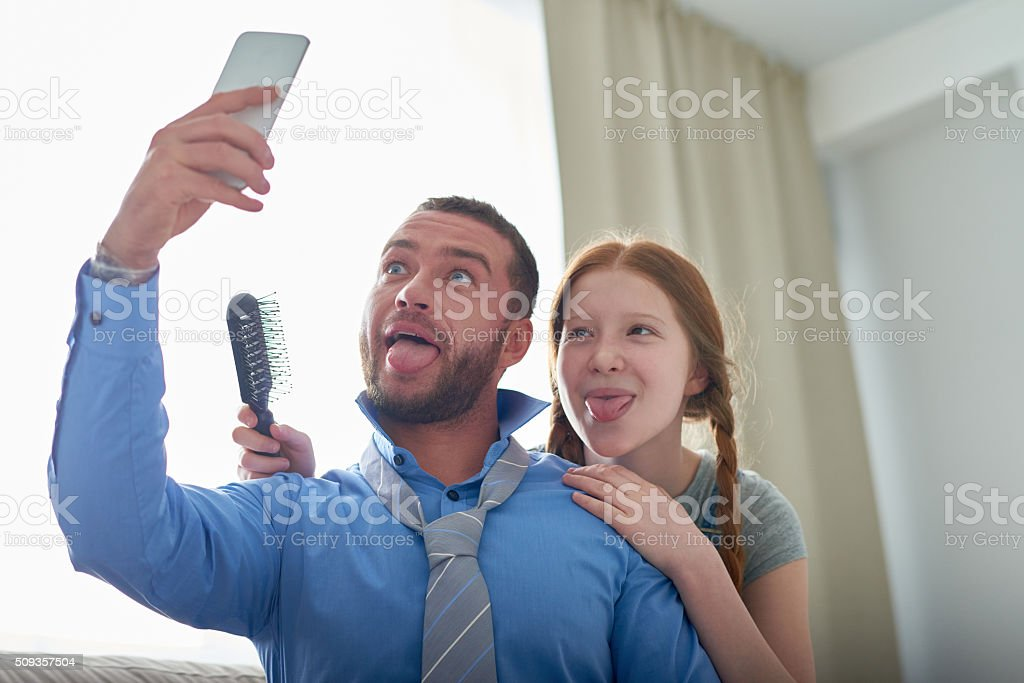 Father'€™s daughter stock photo