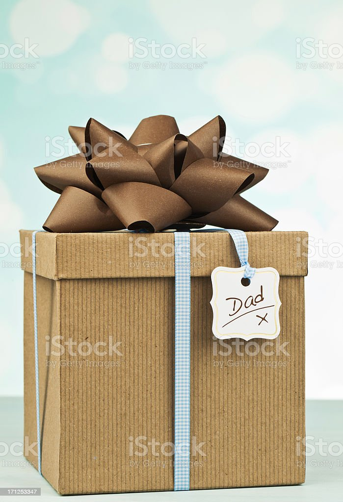Father's Day Gift in Recycled Packaging stock photo