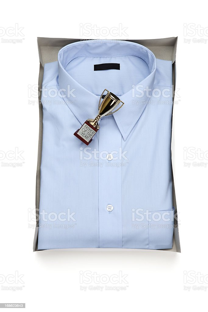 Father's Day Gift Shirt and Trophy royalty-free stock photo