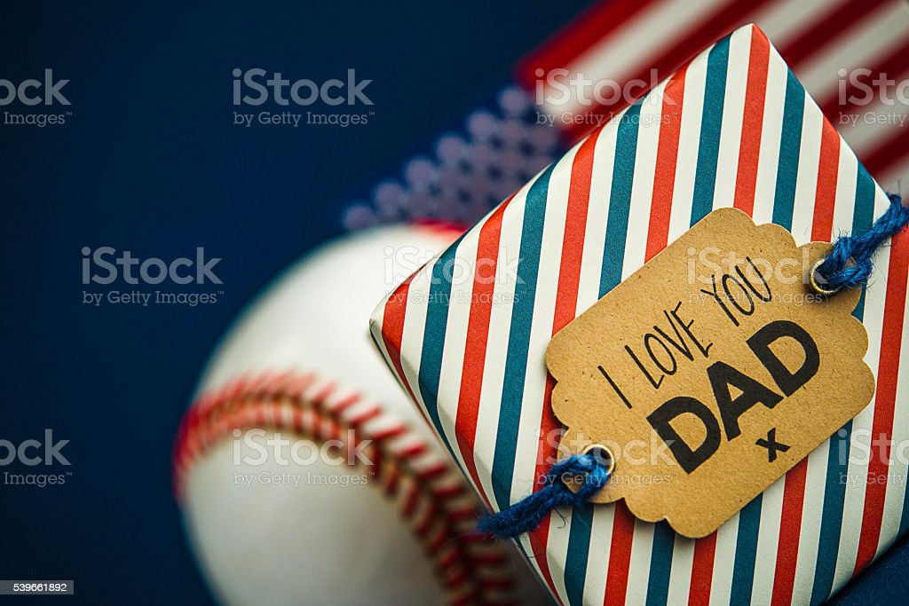 Father's Day or birthday gift for an all American dad stock photo