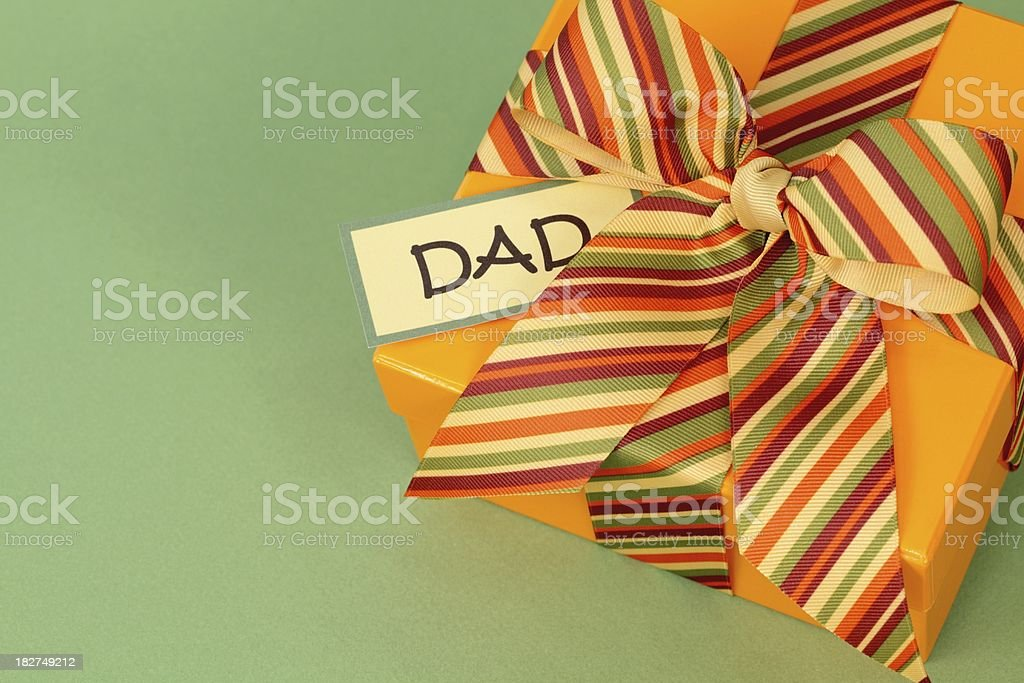 Father's Day or Birthday wrapped Gift box for Dad royalty-free stock photo