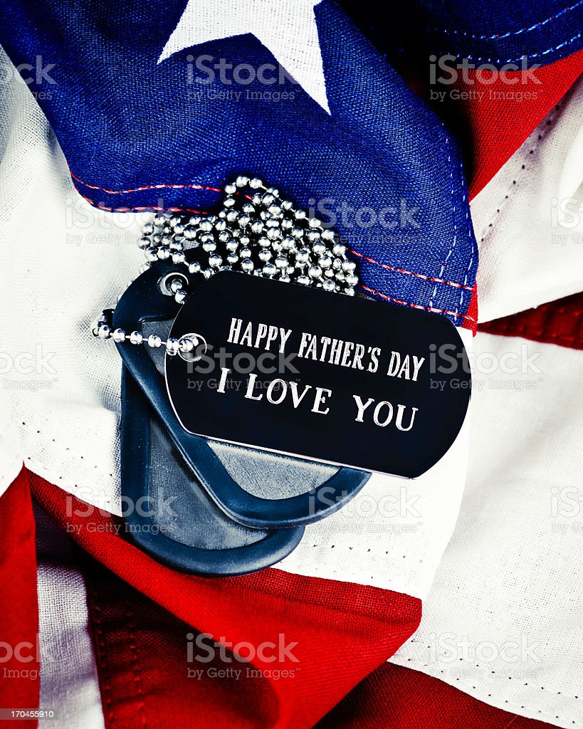 Father's Day Wishes for the Military Dad royalty-free stock photo