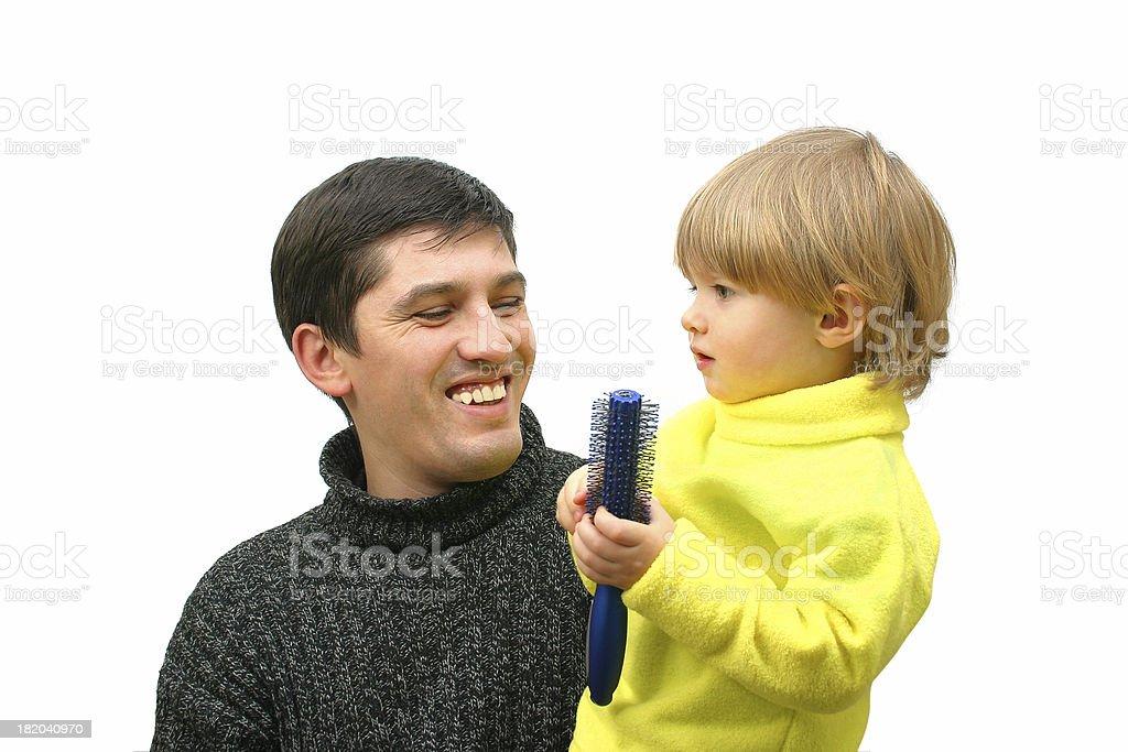 Father's pleasure royalty-free stock photo